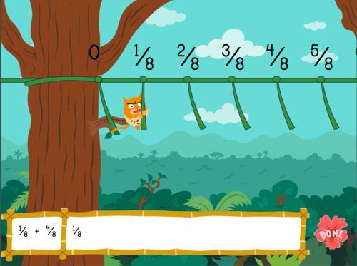 small resolution of Adding Fractions with Like Denominators: Jungle Edition   Game    Education.com