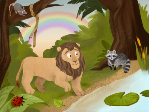 small resolution of The Lion and the Rat Comprehension Game   Story   Education.com