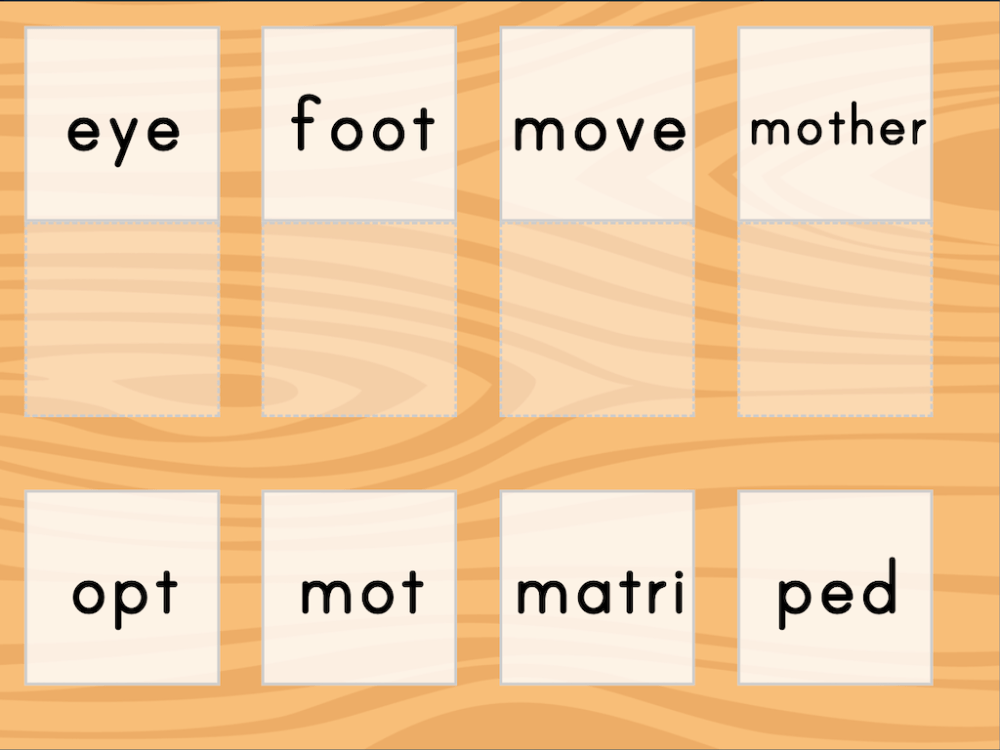 medium resolution of Match: Meaning of Root Words   Game   Education.com