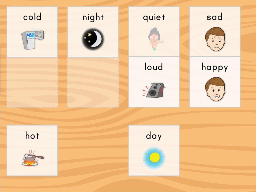 Free And Easy To Download Preschool Opposites Cards In Full Color Simple Picture Matching