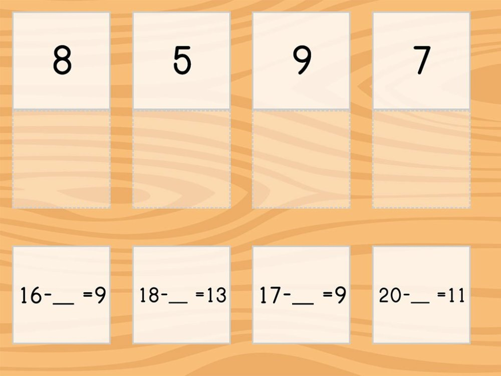 medium resolution of Match: Subtraction Within 20 and Missing Factors   Game   Education.com