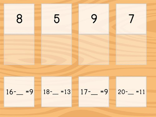 small resolution of Match: Subtraction Within 20 and Missing Factors   Game   Education.com