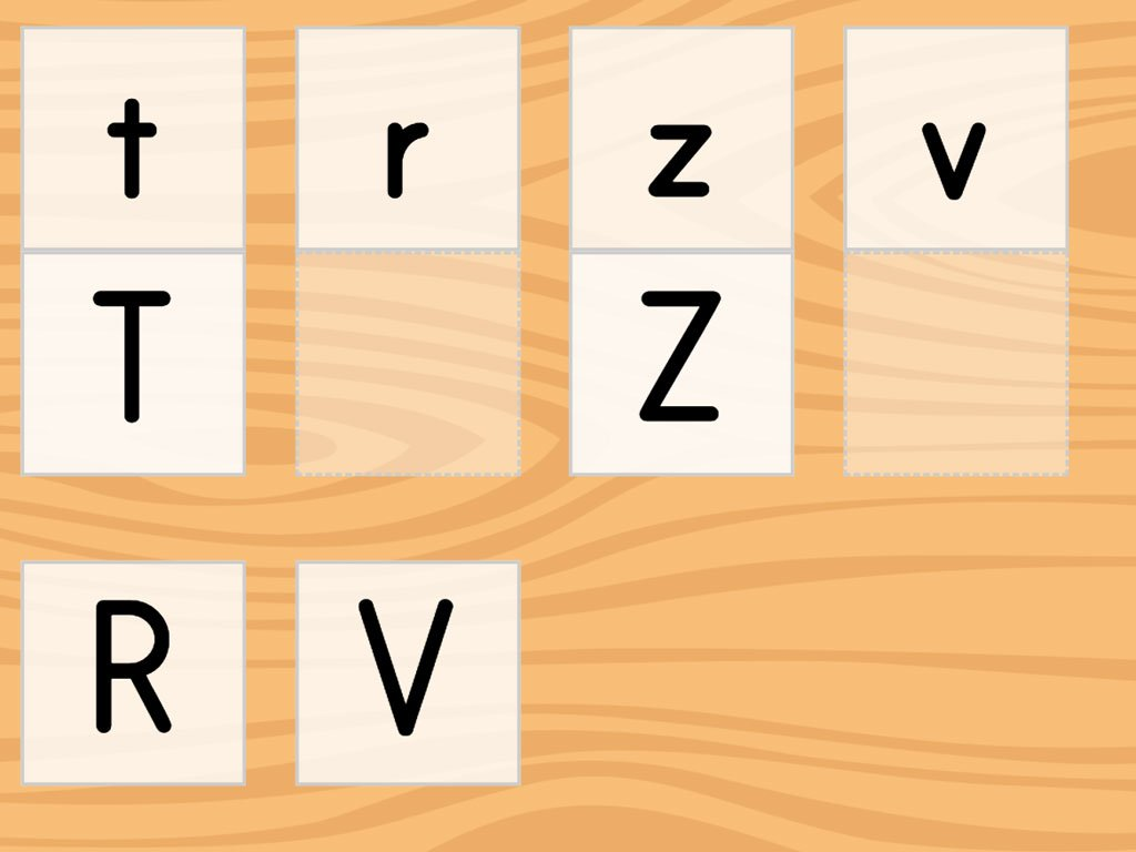 Match The Letters M Z