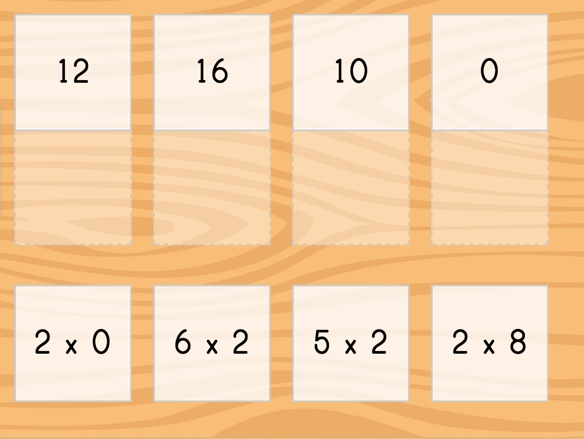 hight resolution of Multiply by 2 Matching   Game   Education.com