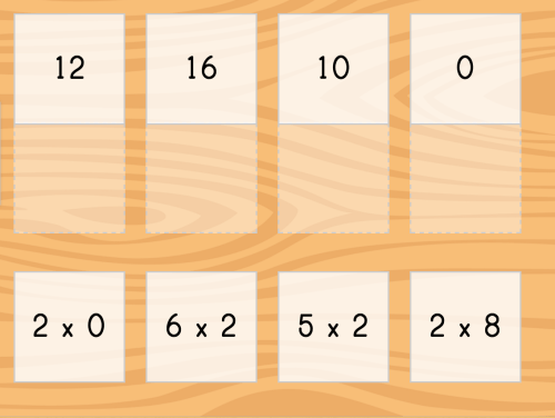 small resolution of Multiply by 2 Matching   Game   Education.com