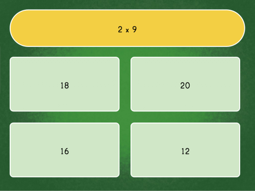 small resolution of multiply by 2 quiz