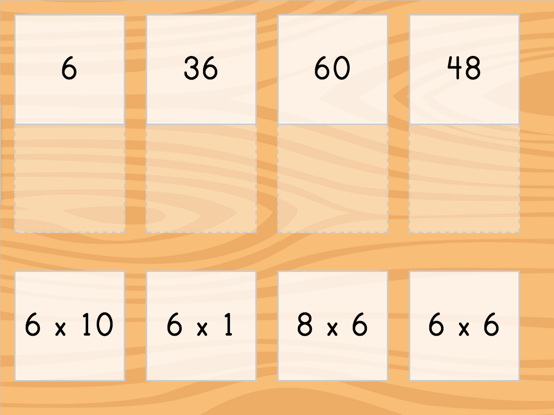 hight resolution of Multiply by 6: Matching   Game   Education.com