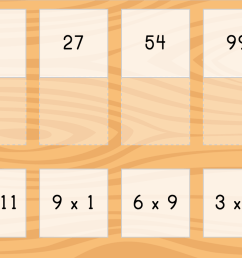 Multiply by 9: Matching   Game   Education.com [ 851 x 1136 Pixel ]