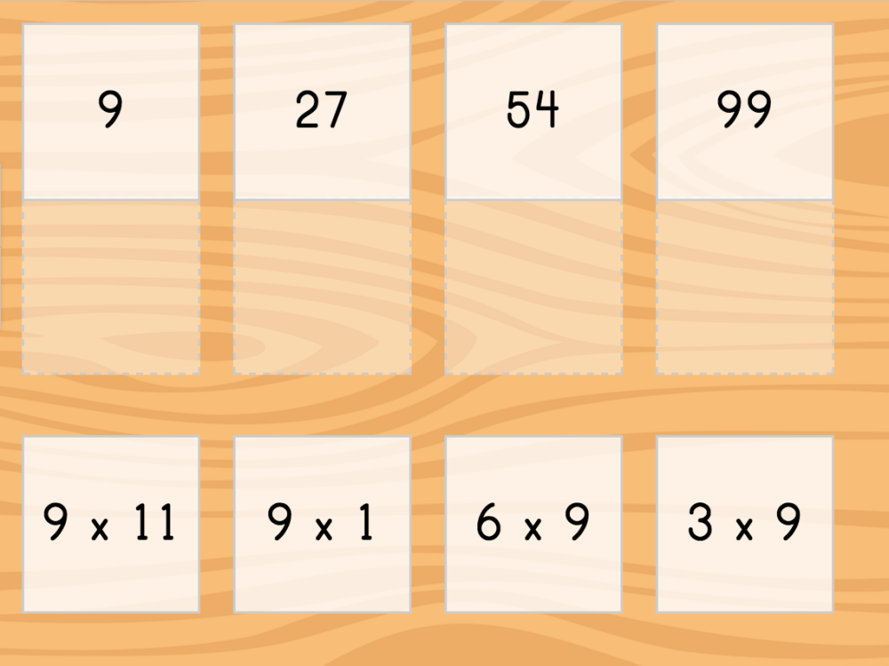 medium resolution of Multiply by 9: Matching   Game   Education.com
