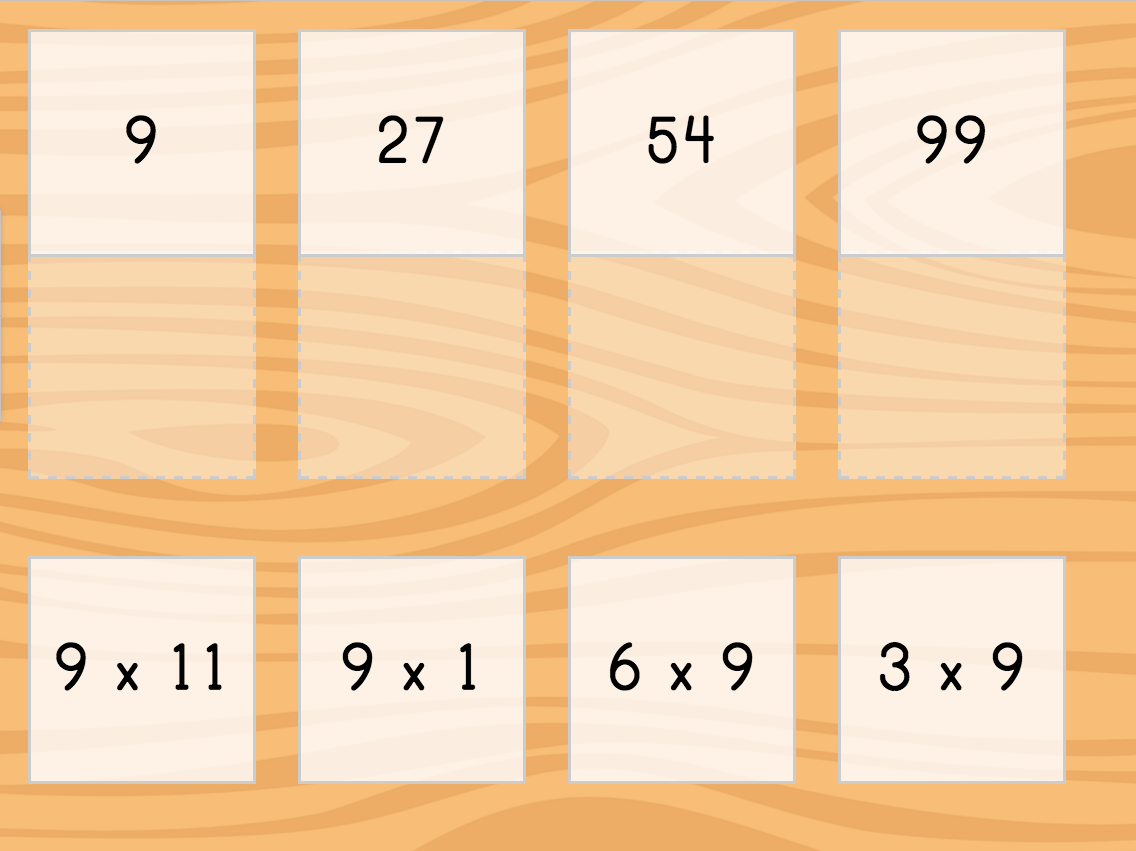 hight resolution of Multiply by 9: Matching   Game   Education.com