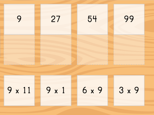 small resolution of Multiply by 9: Matching   Game   Education.com