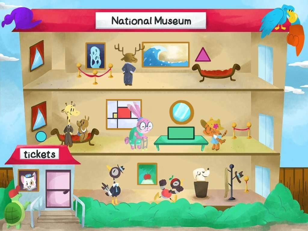 Spot The Shapes At The Museum Game