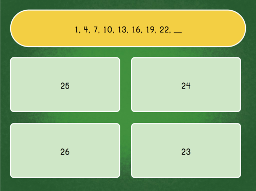 small resolution of Solve the Number Pattern   Game   Education.com