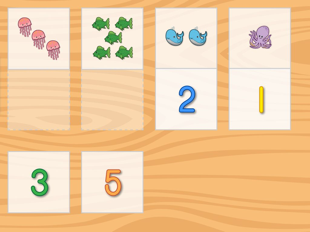 Number Pictures Matching Game