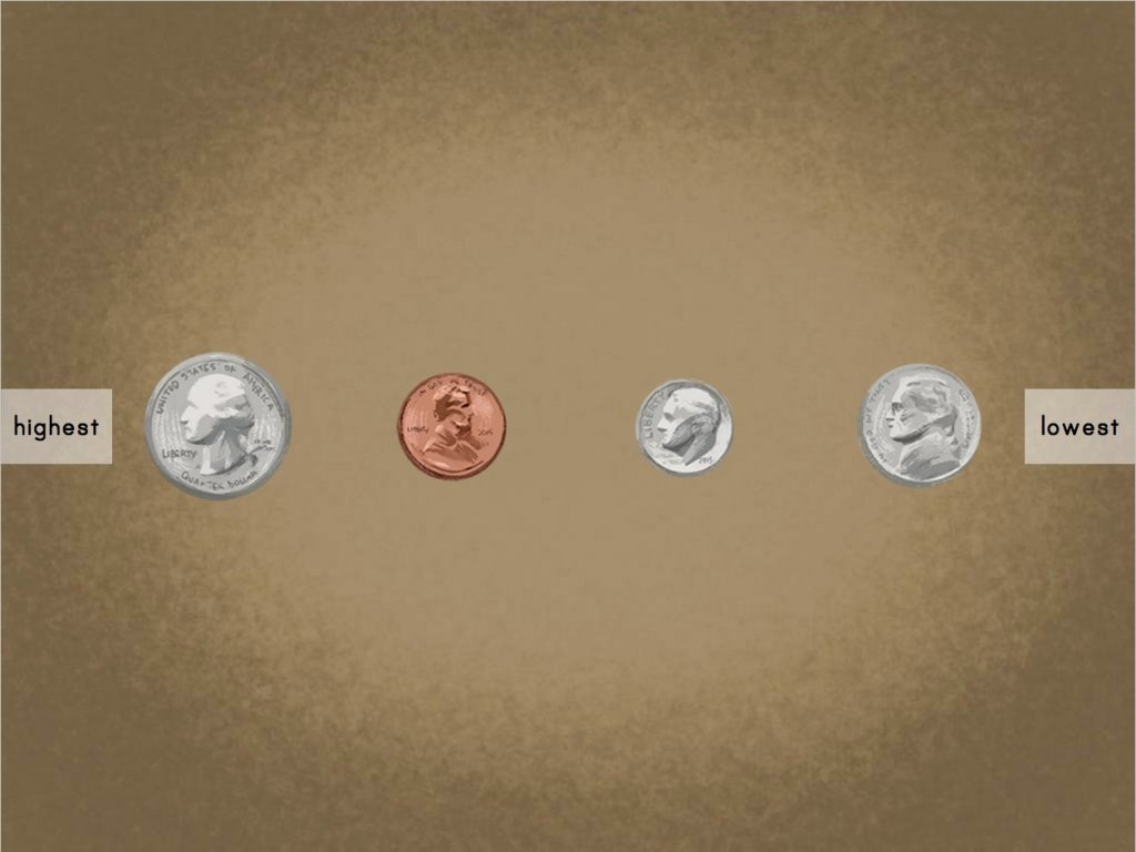 hight resolution of Ordering Coins by Value Game   Game   Education.com