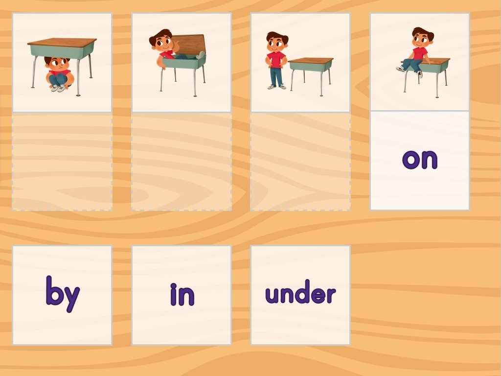 Positional Words Matching Game