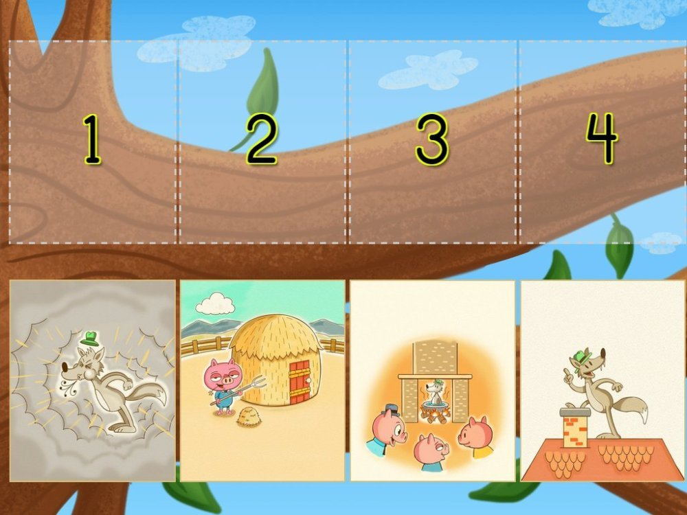 medium resolution of Sequencing The Three Little Pigs Game   Game   Education.com