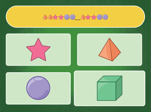 small resolution of Shape Patterns Quiz   Game   Education.com