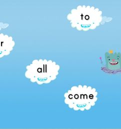 Sight Words Cloud Catcher Game   Game   Education.com [ 768 x 1024 Pixel ]