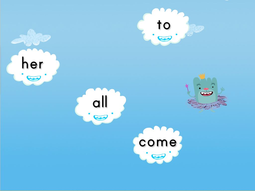 hight resolution of Sight Words Cloud Catcher Game   Game   Education.com