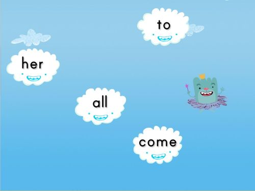 small resolution of Sight Words Cloud Catcher Game   Game   Education.com