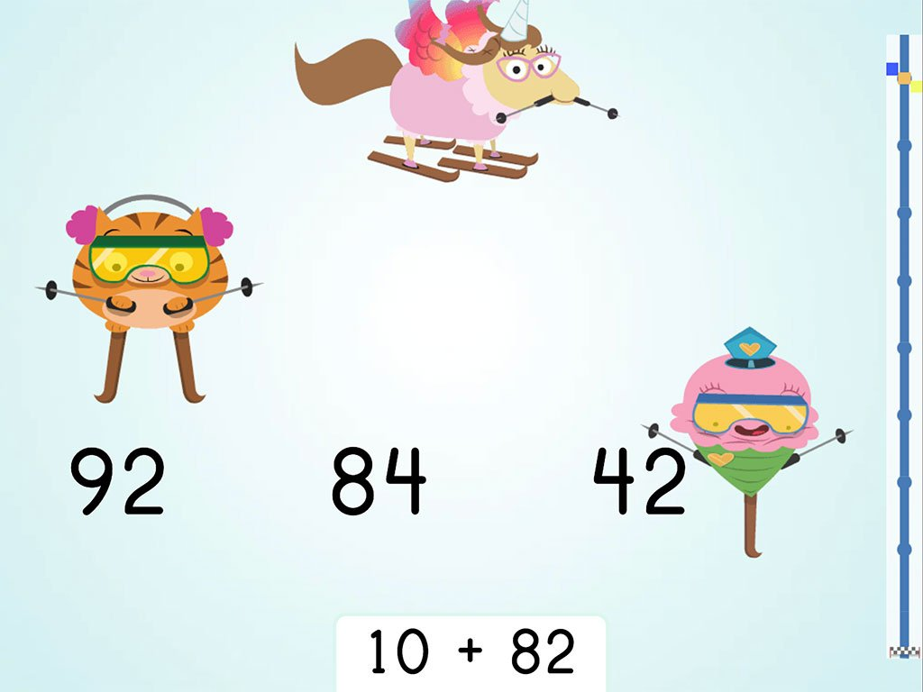 Ski Racer Two Digit Addition And Finding 10 More