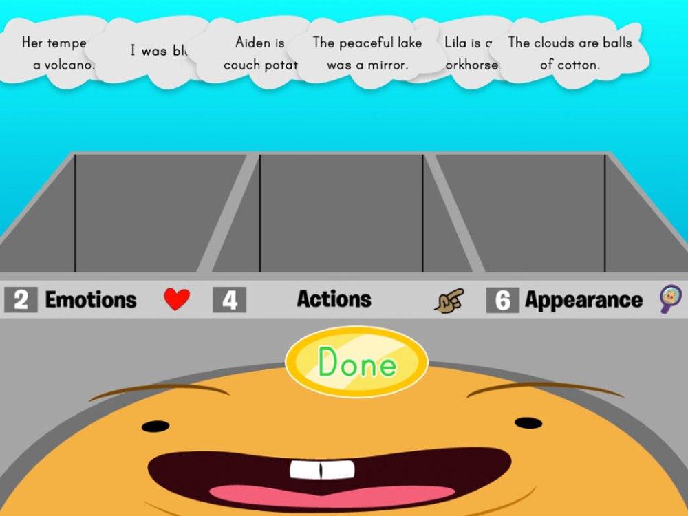 medium resolution of Metaphor Sorting In Muggo's Brain   Game   Education.com