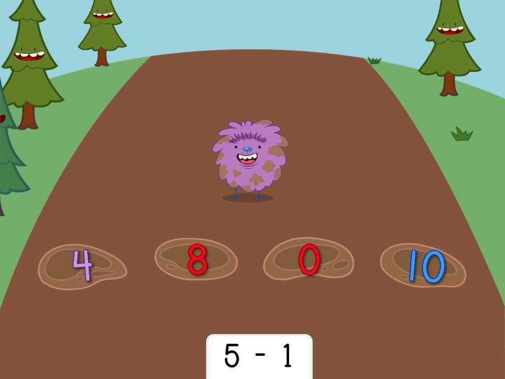 Subtraction Hopper Game