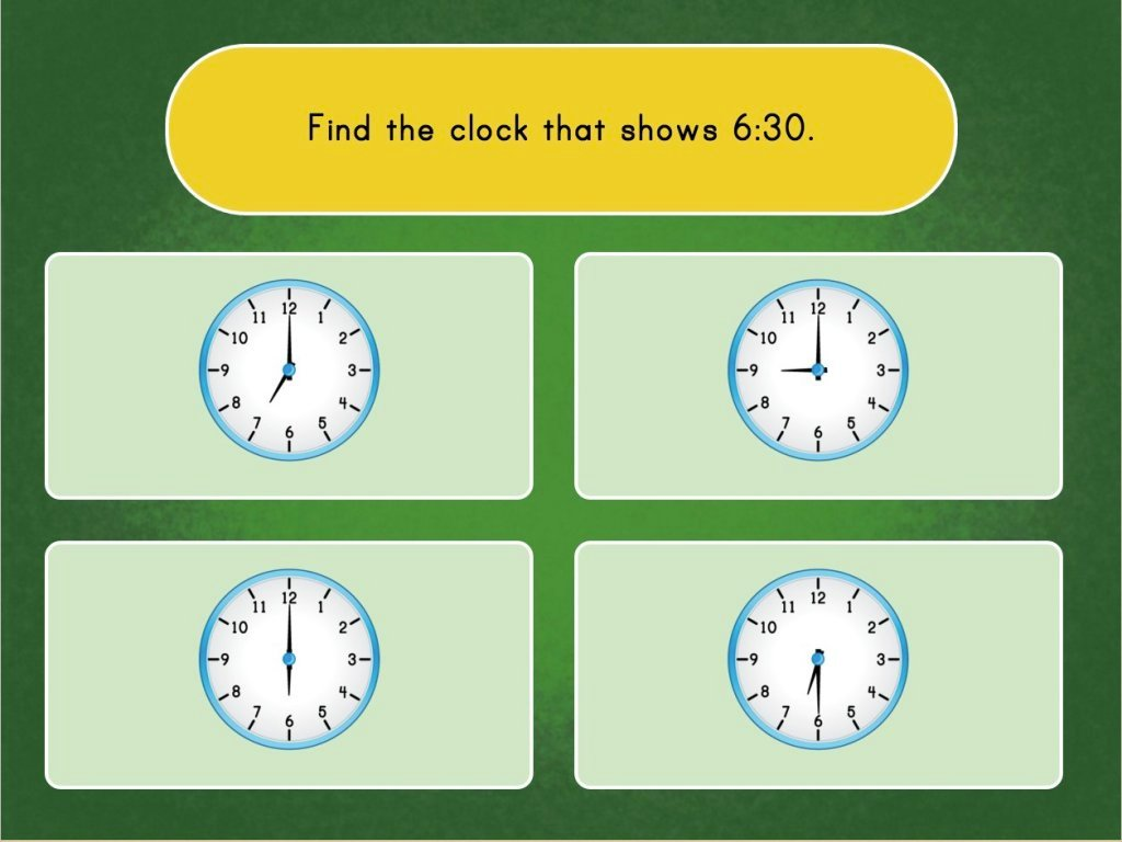 Telling Time With Clocks Game