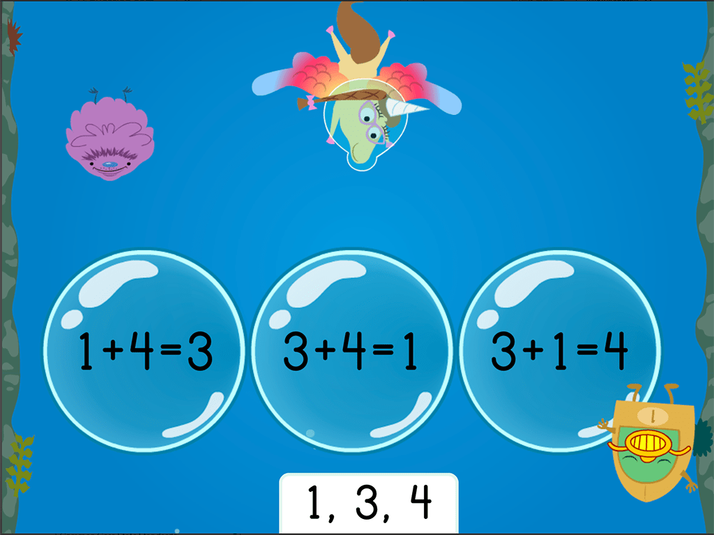 hight resolution of Treasure Diving: Addition Fact Families Within 10 (Game 2)   Game    Education.com