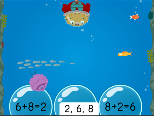 small resolution of Treasure Diving: Addition Fact Families Within 10 (Game 3)   Game    Education.com