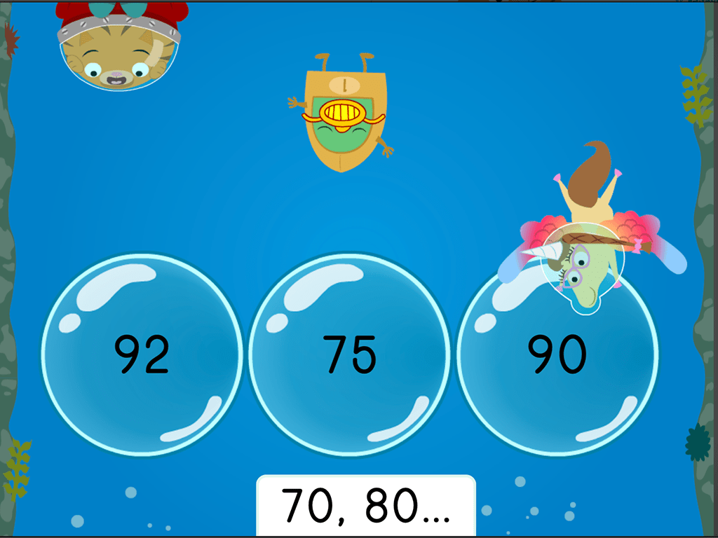 Treasure Diving Counting By 10s