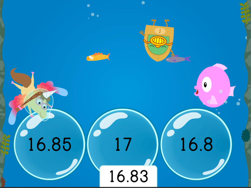 medium resolution of Treasure Diving: Rounding Decimals to the Nearest Hundredth   Game    Education.com