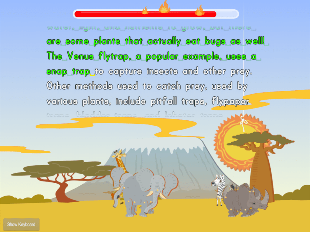 medium resolution of Typing Paragraphs for Accuracy: Extra Facts Safari   Game   Education.com