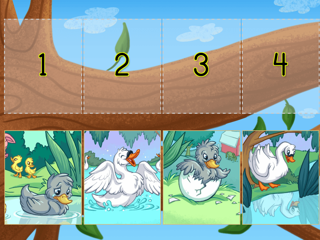 Ugly Duckling Sequencing Worksheet For Kindergarten Ugly
