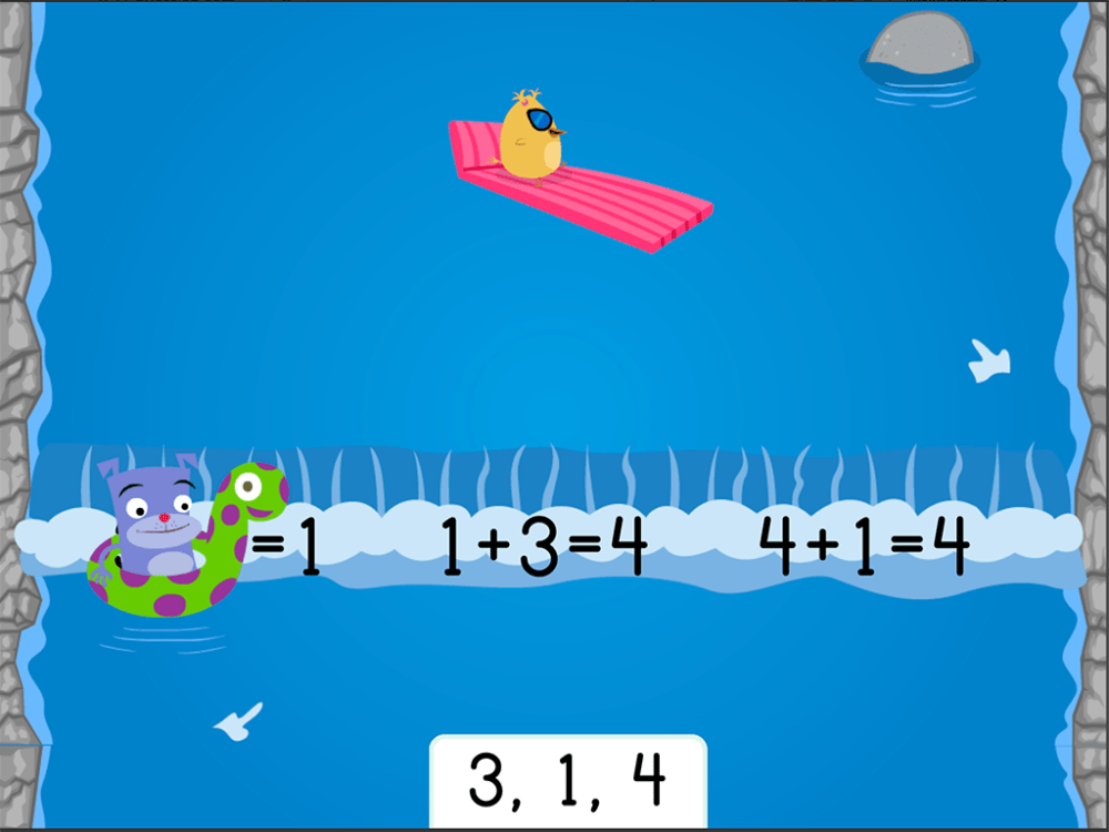 medium resolution of Water Rafting: Addition Fact Families Within 10   Game   Education.com