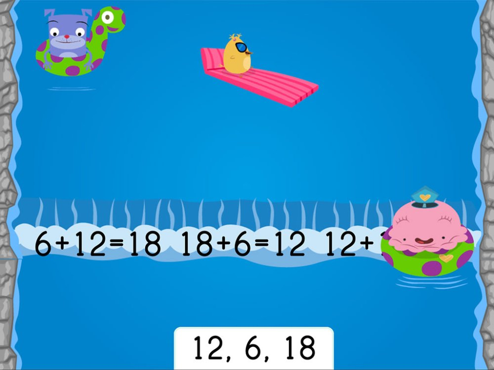 medium resolution of Water Rafting: Addition Fact Families Within 20   Game   Education.com