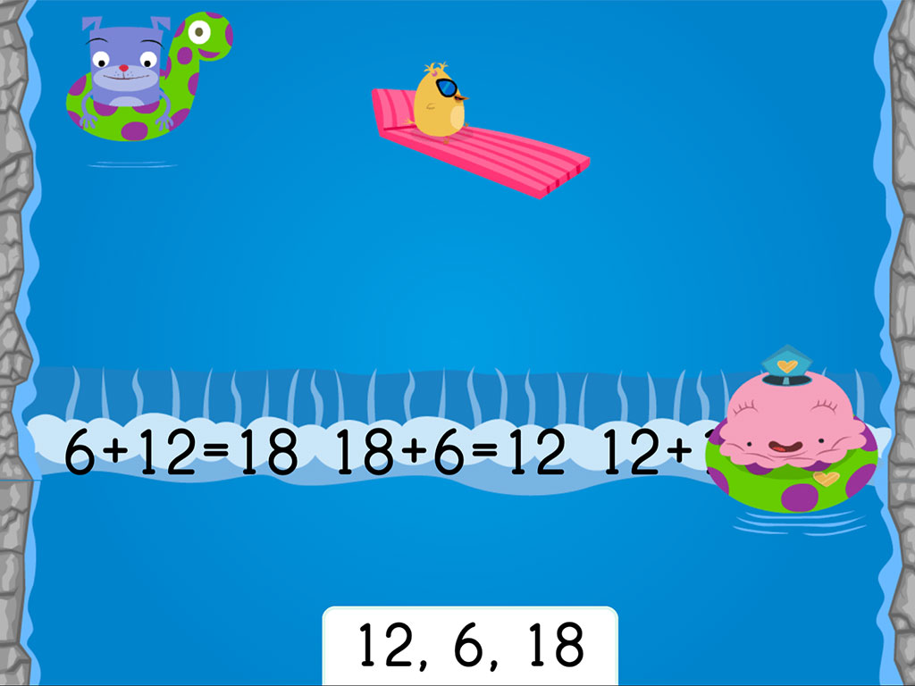 hight resolution of Water Rafting: Addition Fact Families Within 20   Game   Education.com