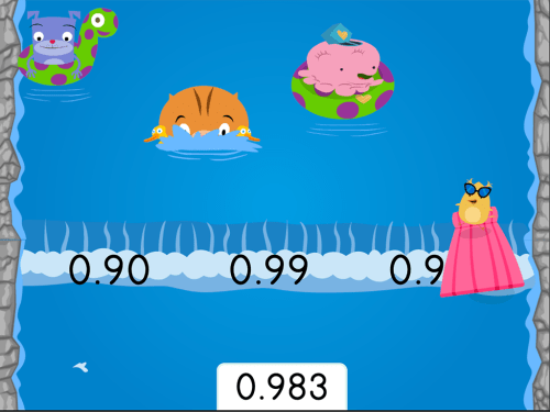 small resolution of Water Rafting: Rounding Decimals to the Nearest Hundredth   Game    Education.com