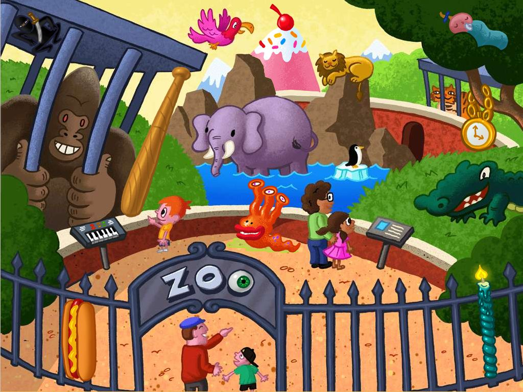 Find The Zany Zoo Objects Game