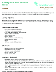 Related learning resources naming the native american tribes also lesson plan education rh