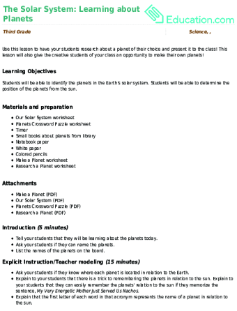 Lesson Plans For Science Education Com