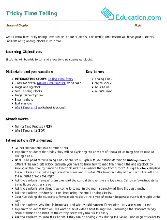 Telling Time Printable Games That are Simplicity