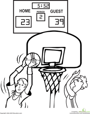Kindergarten Sports Coloring Pages & Printables Page 4
