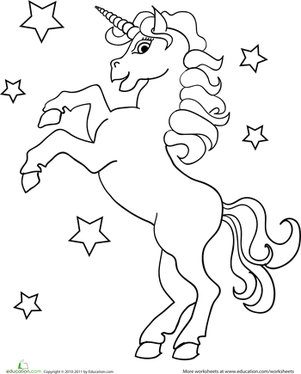 Unicorn Worksheet Education Com