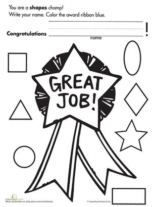 Kindergarten Shapes Worksheets & Free Printables