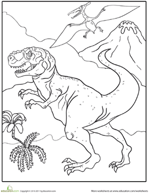 Dig Into Dinosaurs 15 Dino Coloring Pages Education Com