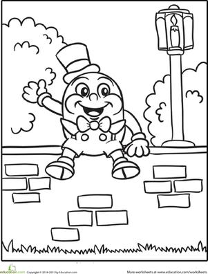 Humpty Dumpty Tracing Preschool Worksheets. Humpty. Best