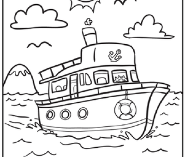 Boat Coloring Pages Education Com