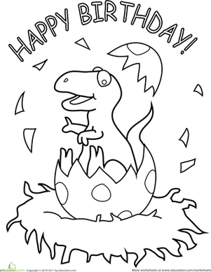 Preschool Dinosaurs Coloring Pages & Printables